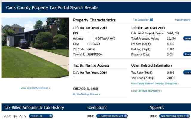 Chicago House Taxes